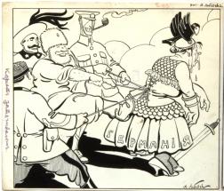 Карикатуры А. Лебедева периода Первой мировой войны