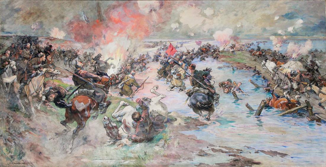 """К юбилею Н.С. Самокиша: """"Переход Красной Армии через Сиваш"""" (1935)"""