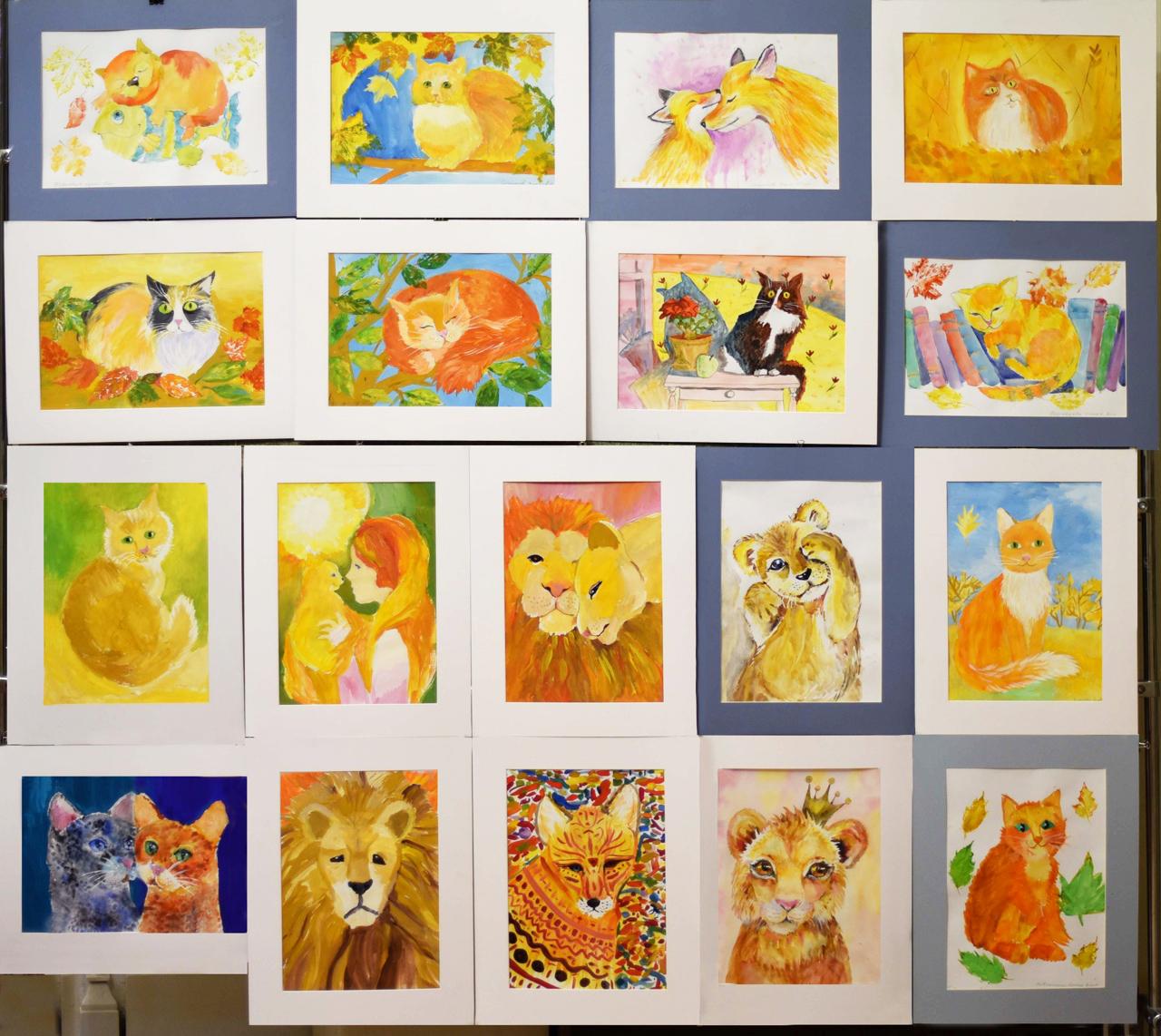Выставка детского рисунка «Крадется осень рыжей кошкой»