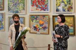 Открытие юбилейной выставки Людмилы Поляковой